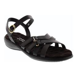 Women's Walking Cradles Sleek Black Nappa