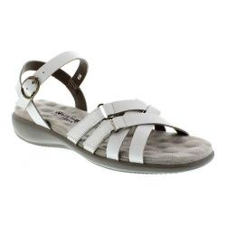 Women's Walking Cradles Sleek White Nappa