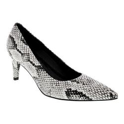 Women's Walking Cradles Sophia Pump Black/White Snake Print PU