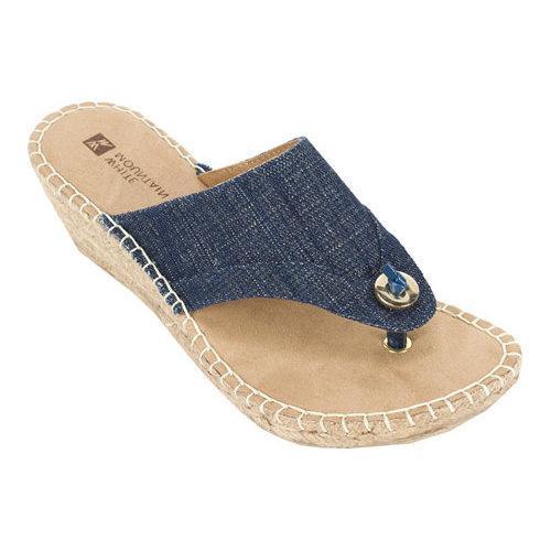 Shop Women S White Mountain Bandana Thong Wedge Sandal
