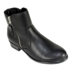 Women's White Mountain Barlow Ankle Boot Black Smooth Synthetic