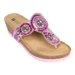 Women's White Mountain Blast Pink Suede/Multi Beading