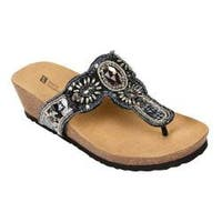 Women's White Mountain Bountiful Black/Multi Beading
