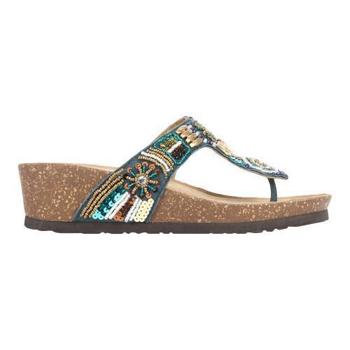 Shop Women S White Mountain Brilliant Beaded Thong Sandal
