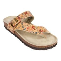 Women's White Mountain Carly Natural Floral Leather