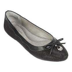 Women's White Mountain Cece Ballet Flat Black Glitter