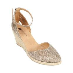 Women's White Mountain Cisco Light Gold Glitter Fabric