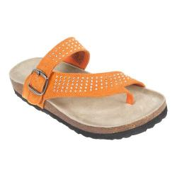 Women's White Mountain Coaster Thong Sandal Orange Suede