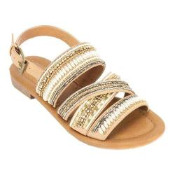 Women's White Mountain Devlyn Strappy Sandal Honey Smooth Synthetic