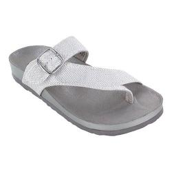 Women's White Mountain Henri Thong Sandal White Glitter Synthetic