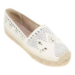 Women's White Mountain Herring Espadrille Cream Fabric