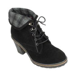 Women's White Mountain Jayjay Ankle Bootie Black Suede