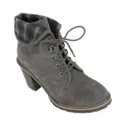 Women's White Mountain Jayjay Ankle Bootie Charcoal Suede