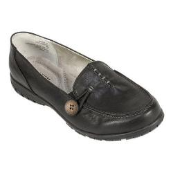 Women's White Mountain Judo Slip-On Loafer Black Smooth Synthetic