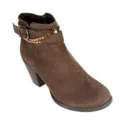 Women's White Mountain Mayflower Ankle Bootie Brown Suede