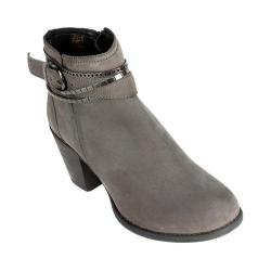 Women's White Mountain Mayflower Ankle Bootie Charcoal Suede