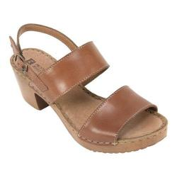 Women's White Mountain Motor Slingback Sandal Brown Leather