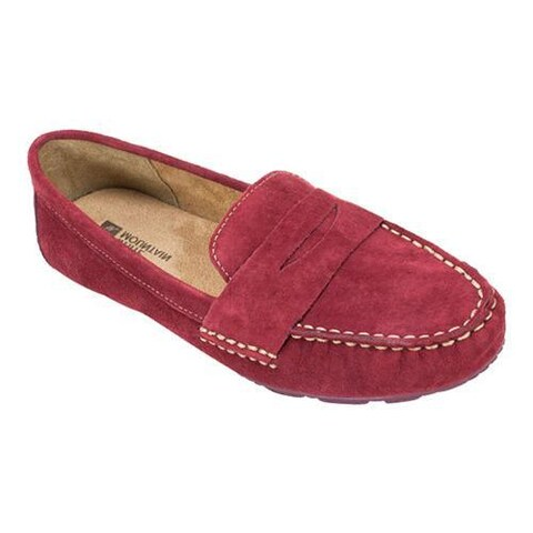 Women's White Mountain Skipper Burgundy