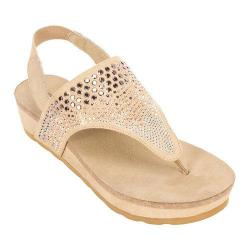 Women's White Mountain Safari Thong Sandal Camel Fabric