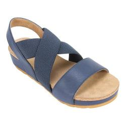 Women's White Mountain Savage Strappy Sandal Navy Smooth Synthetic