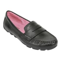Women's White Mountain Skipper Black Leather