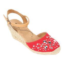 Women's White Mountain Dark Red Canvas Shoe