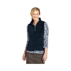 Women's Woolrich Andes Fleece Vest Deep Indigo
