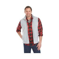Men's Woolrich Andes II Fleece Vest Light Gray Heather