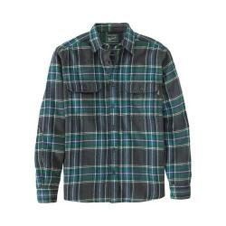 Men's Woolrich Oxbow Bend Flannel Shirt Forest Green Buffalo