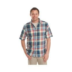 Men's Woolrich Red Creek Plaid Shirt Nordic Blue
