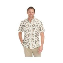 Men's Woolrich Reissued Modern Fit Printed Shirt Wool Cream