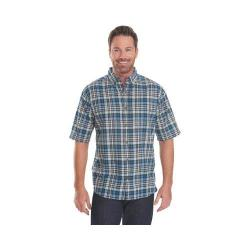Men's Woolrich Timberline Plaid Shirt Nordic Blue