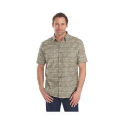 Men's Woolrich Walnut Run Printed Shirt Field Gray Kayak