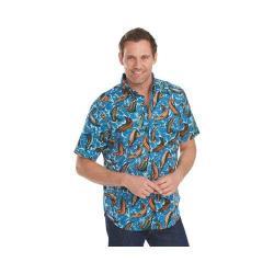 Men's Woolrich Walnut Run Printed Shirt Tidal Wave