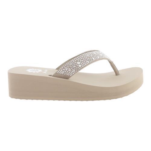 Women's Yellow Box Africa Sandal Taupe - Thumbnail 1