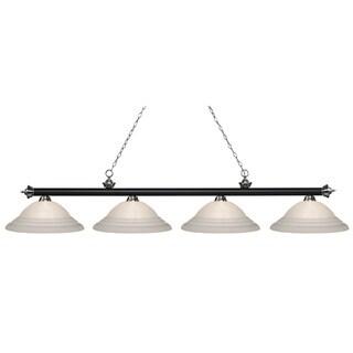 Z-Lite Riviera Matte Black & Brushed Nickel 4-lights Matte Black & Brushed Nickel Island/Billiard