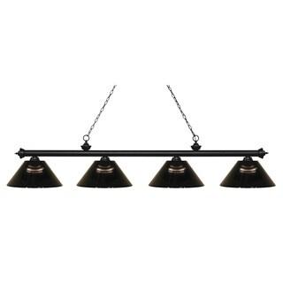 Avery Home Lighting Riviera Matte Black 4-lights Matte Black Island/Billiard