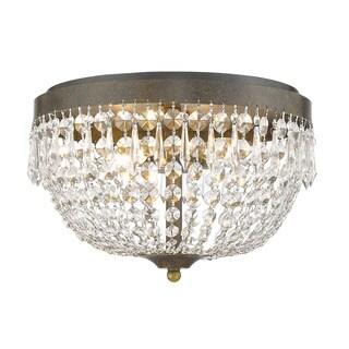 Z-Lite Danza 4-lights Golden Bronze Flush Mount