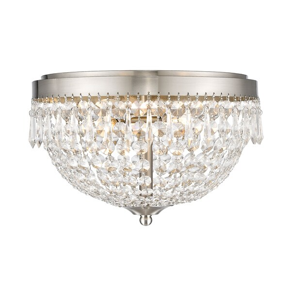 Avery Home Lighting Danza 3 Lights Brushed Nickel Flush Mount
