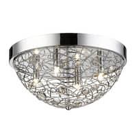 Avery Home Lighting Nabul 4-lights Chrome Flush Mount