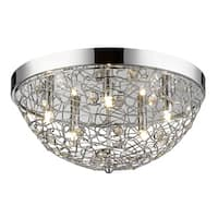 Avery Home Lighting Nabul 5-lights Chrome Flush Mount