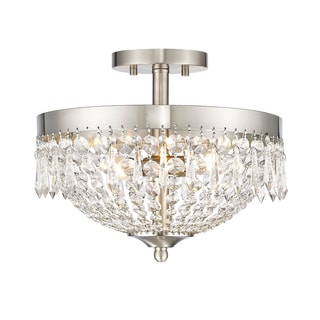 Z-Lite Danza 3-lights Brushed Nickel Semi Flush Mount