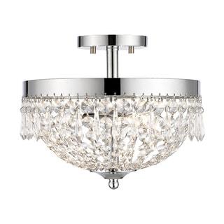 Z-Lite Danza 3-lights Chrome Semi Flush Mount