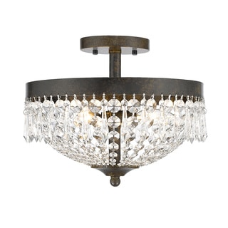 Z-Lite Danza 3-lights Golden Bronze Semi Flush Mount