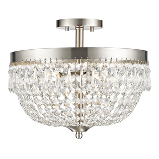 Z-Lite Danza 4-lights Brushed Nickel Semi Flush Mount