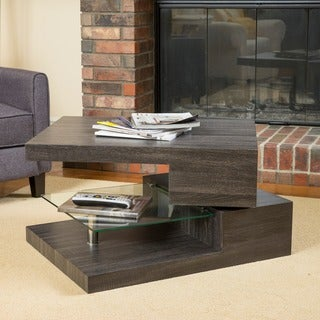Michael Rectangular Rotating Wood Coffee Table by Christopher Knight Home