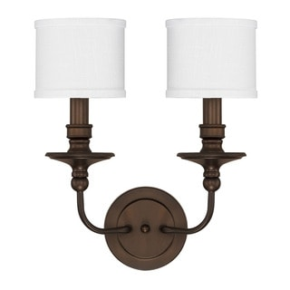 Capital Lighting Midtown Collection 2-light Burnished Bronze Wall Sconce