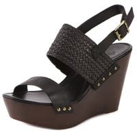Charles By Charles David Isola Leather Platform Wedges