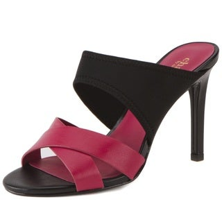 Charles by Charles David Irony Leather and Lycra Mule Sandals
