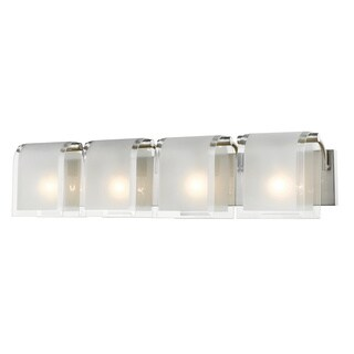 Avery Home Lighting Zephyr 4-lights Brushed Nickel Vanity